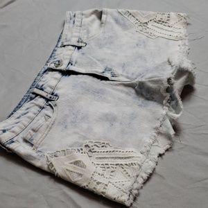 Jessica Simpson distressed raw hem shorts